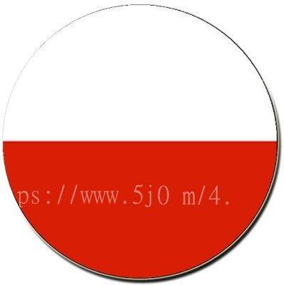 〈世界國旗〉波蘭 國旗胸章 (直徑3.2公分)