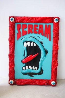【車庫服飾】收藏品出售 Dreamers Jim Phillips Art Show 滑板 吶喊之手 展場限定立體畫作