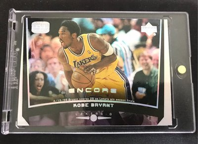 🐍1999-00 Upper Deck Encore Game Dated #39 Kobe Bryant