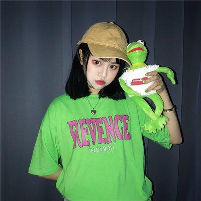 韓版夏季ulzzang原宿bf風字母印花圓領顯瘦百搭學生 短袖t恤潮女