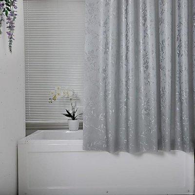 180*200cm浴簾加厚防霉不透明洗澡遮光窗簾浴室隔斷簾防水布簾子掛簾MJBL