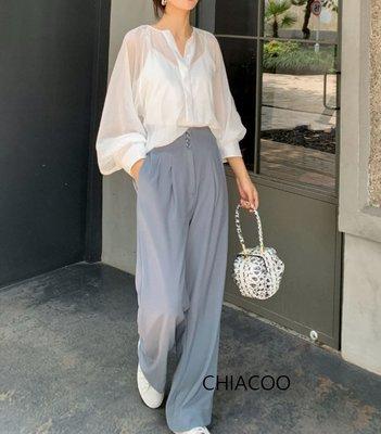 CHIACOO歐美 韓國 復古 透視 防曬 長版 襯衫 罩衫 兩件式 背心 小可愛 cos acne asos zara