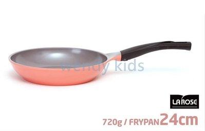 【現貨】【Wendy Kids】韓國 La Rose 玫瑰鍋 Chef Topf 銀離子 陶瓷塗層 24公分 不沾平底鍋