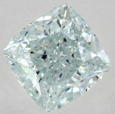 俐格鑽石珠寶批發 GIA 綠彩鑽 Fancy Light Bluish Green 2.08克拉 價格:洽詢