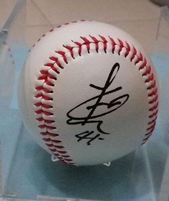 棒球天地--賣場唯一--日本職棒李杜軒(秉諺)簽名軟體銀行紀念球.字跡漂亮
