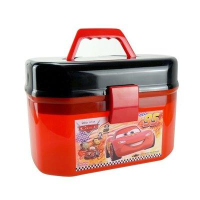 **花媽日本代購** 迪士尼CARS閃電麥昆 小汽車收納盒 收納箱 玩具收納桶 醫藥工具箱(CARS黑色賣場)