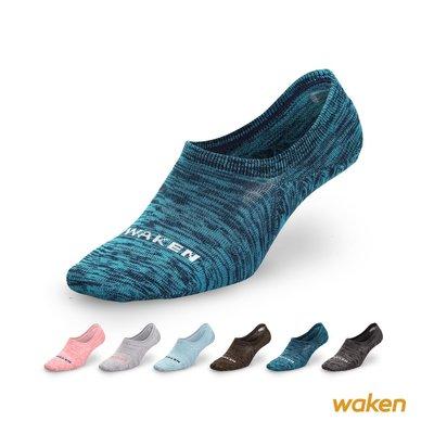 【waken】B915精梳棉竹炭除臭隱形襪 6雙組 / 男女低口襪子 後跟止滑 帆船鞋懶人鞋TOMS適用 大童襪
