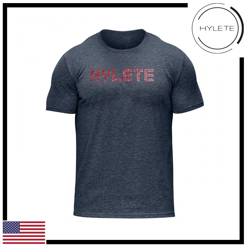 ►瘋狂金剛◄海軍藍  HYLETE pinpoint tri-blend crew tee 柔軟 透氣 短袖T恤