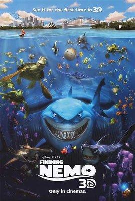 Pixar皮克斯 - 海底總動員 (Finding Nemo) - 美國原版雙面電影海報 (2012年3D版)