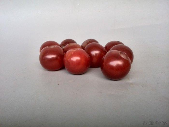 【聚寶閣】古玩雜項清代傳世老紅瑪瑙珠子 sbh3687