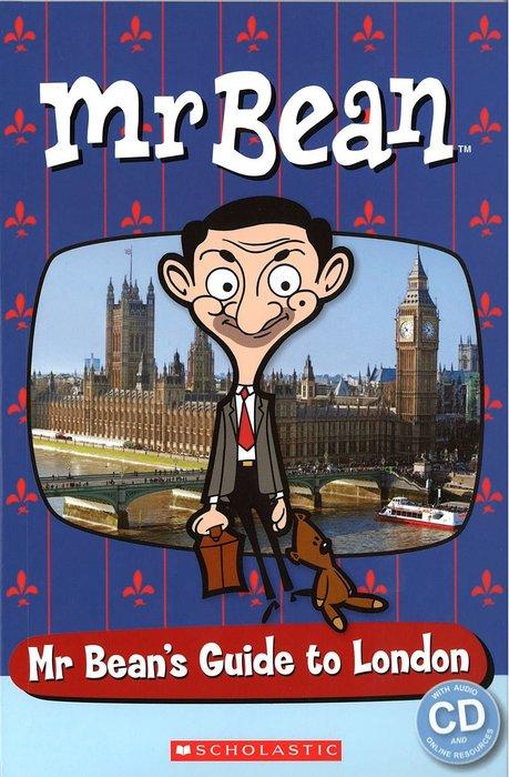 *小貝比的家*MR BEAN: MR BEAN'S GUIDE TO LONDON STARTER LEVEL/書+CD