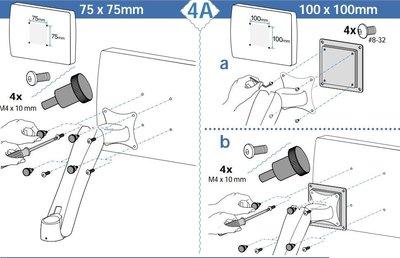 熒幕支架顯示器支架VESA標準轉換接口轉接板75轉100