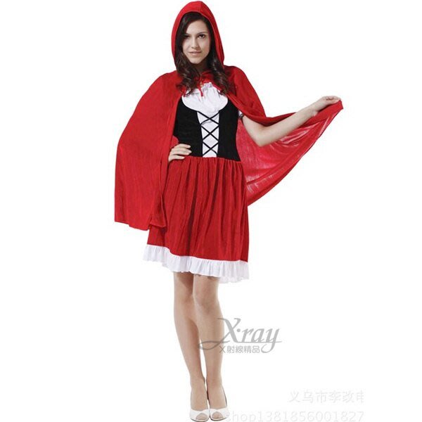 X射線【W000422】小紅帽淑女裝(紅色),化妝舞會/角色扮演/尾牙表演/萬聖節/聖誕節/兒童變裝/cosplay