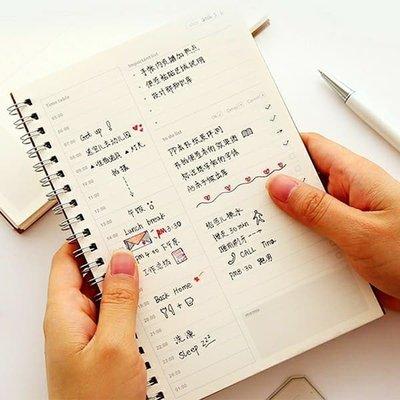 【心海】TIME TABLE 牛皮紙每小時每日行程計劃計畫筆記本/日記本