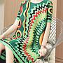 衣都精品-新款寬鬆大碼歐風印花顯瘦皺褶連衣裙GH9080607