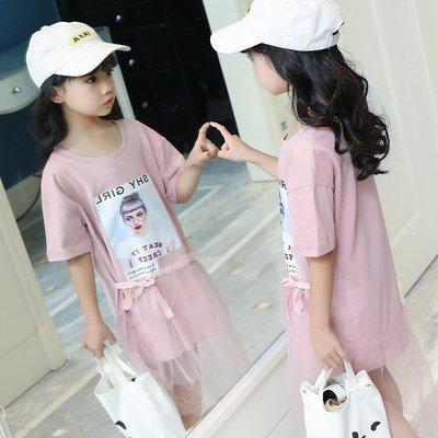 中大童 時尚 女童【Q寶童裝】夏款 W...
