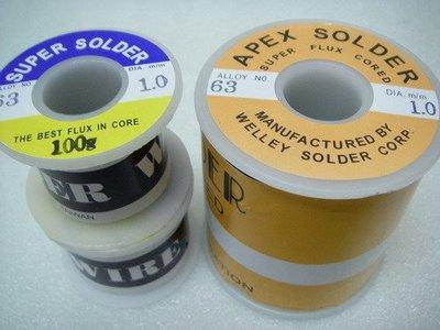 YT(宇泰五金)正台灣製APEX SOLDER高純度63%1.0mm錫絲/錫條/1kg下標區