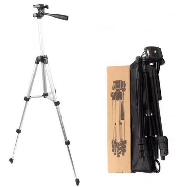 【柑仔舖】影音專賣 130CM 鋁合金三腳架 直播腳架/360°立體雲台/伸縮腳架/中軸升降/鎖腳墊片/攝影腳架 投影機