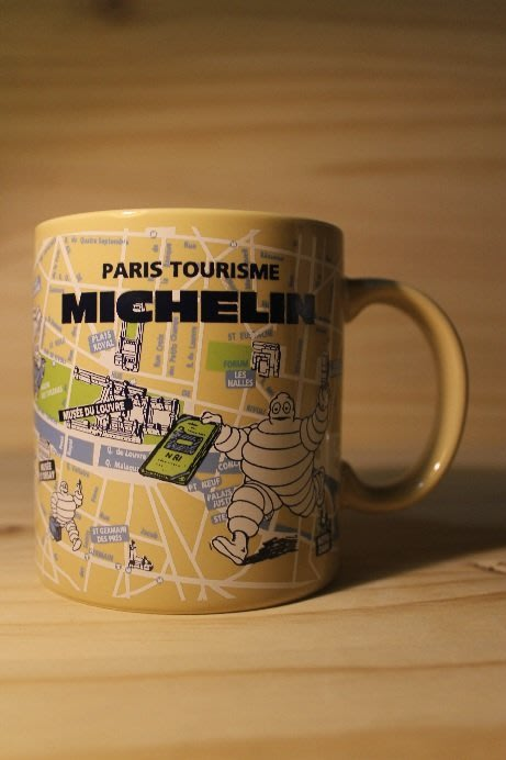 (I LOVE樂多)MICHELIN 米其林 地圖標示印刷 馬克杯 (米黃款)多種相關商品供你選擇喔