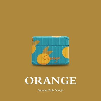 airpods保護套 復古系橘子適用AirPods保護套Pro3蘋果無線藍牙耳機2代收納盒女款 耳機保護套 嘉義百貨