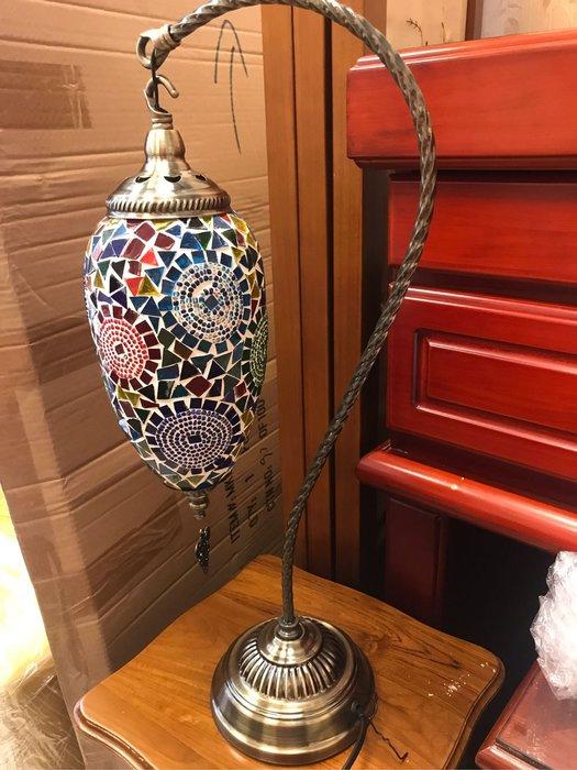 鄉村彩繪玻璃大桌燈 檯燈 美式鄉村