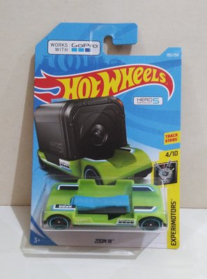 Hotwheels : Zoom In work with Go Pro Hero 5 Session GREEN 綠色