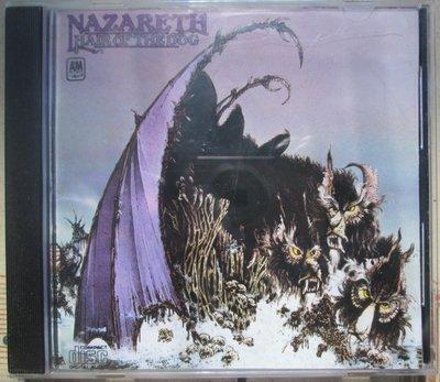 進口版CD~Nazarth--Hair Of The Dog專輯.收錄Love Hurt等(有打孔.聆聽正常)