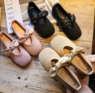 懶人鞋 女童單鞋 新款豆豆鞋 兒童軟底小童皮鞋 寶寶四季公主鞋—莎芭
