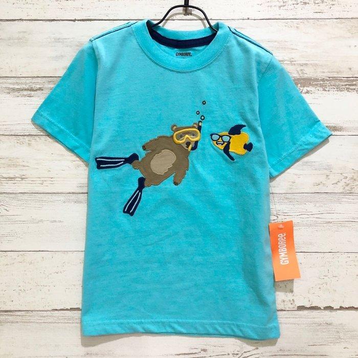 Maple麋鹿小舖 美國購買童裝品牌 GYMBOREE  男童藍色淺水圖樣短T  * ( 現貨4T )