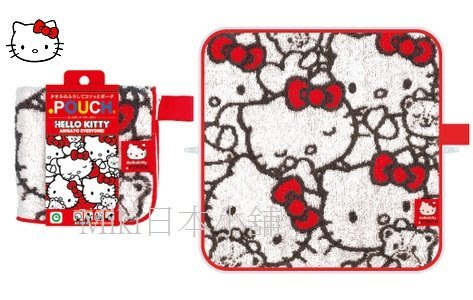 *Miki日本小舖*日本三麗鷗 40週年限定 Hello Kitty凱蒂貓萬用毛巾拉鍊收納袋
