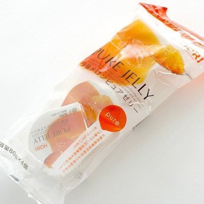 *日式雜貨館*日本北海道 HORI哈密瓜果凍!夕張哈蜜瓜製成! 一包4入! 現貨供應+預購!