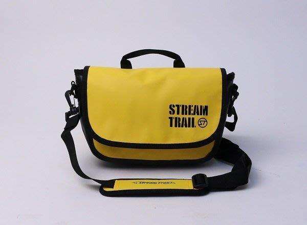 日本StreamTrail戶外防水包∼Clam單肩休閒包-活力黃Saffron(上課上班逛街購物騎車最方便)