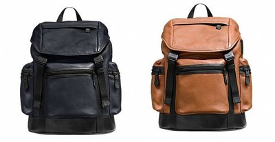 COACH 71976 TREK PACK IN SMOOTH LEATHER真皮後背包