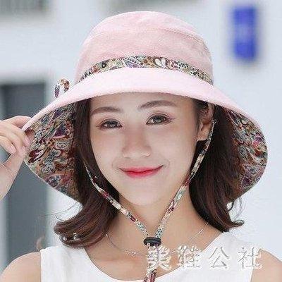 ZIHOPE 遮陽帽 夏季新款休閒百搭遮臉防曬太陽大沿遮陽帽日系漁夫帽涼帽ZI812