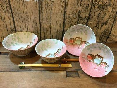日本美濃燒貓頭鷹4.8吋丼碗(大)CP...