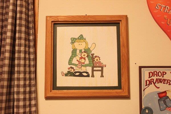 ~Cotton Milk 雜貨散步~ 日本鄉村風原木手繪掛飾MARY DOLL
