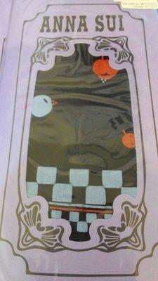 標標樂~日本ANNA SUI安娜蘇限量 ~經典蘋果格子造型膝下襪 關穎,王瀅風 日本製.全新有吊牌 (NO.760)