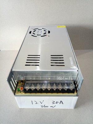 (星光閃閃)DC 12V 30A 360W 電源LED電源 燈串,顯示幕,電子燈箱,LED發光字及監控設備的電源供應器