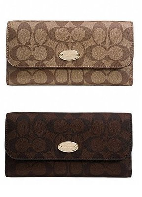 COACH 52681 BOOK WALLET IN SIGNATURE COATED CANVAS
