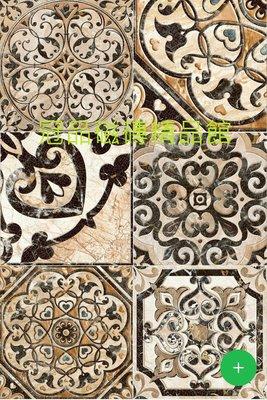 ◎冠品磁磚精品館◎進口精品 格羅寧亮釉面棕花壁磚(單花、混搭)–15X15CM