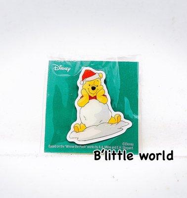 *B'Little World * [現貨] 東京迪士尼專賣店限定商品/維尼聖誕金屬小胸章/東京連線