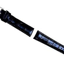 (六四三精品)12mm黑色鱷魚壓紋錶帶(全新品)...可替代手錶同規格的錶帶!