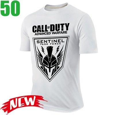 【決勝時刻 先進戰爭 Call of Duty】短袖經典遊戲T恤(共7種顏色) 任選4件以上每件400元免運費【賣場四】