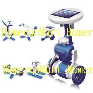 RC1太陽能科學玩具6合1太陽能機器人DIY益智太陽能玩具6in1 益智玩具T6六合一機器人風車飛機汽艇教 具太陽能組合