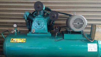 復盛中古10HP高壓空壓機(大同馬達三相 220V 修車業的最愛 加大到200L儲氣桶)