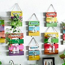 『彩色牆面創意DIY布置』 美式鄉村 牆面清新布置 春夏秋冬四款 水培花瓶 臥房 客廳 餐廳 布置