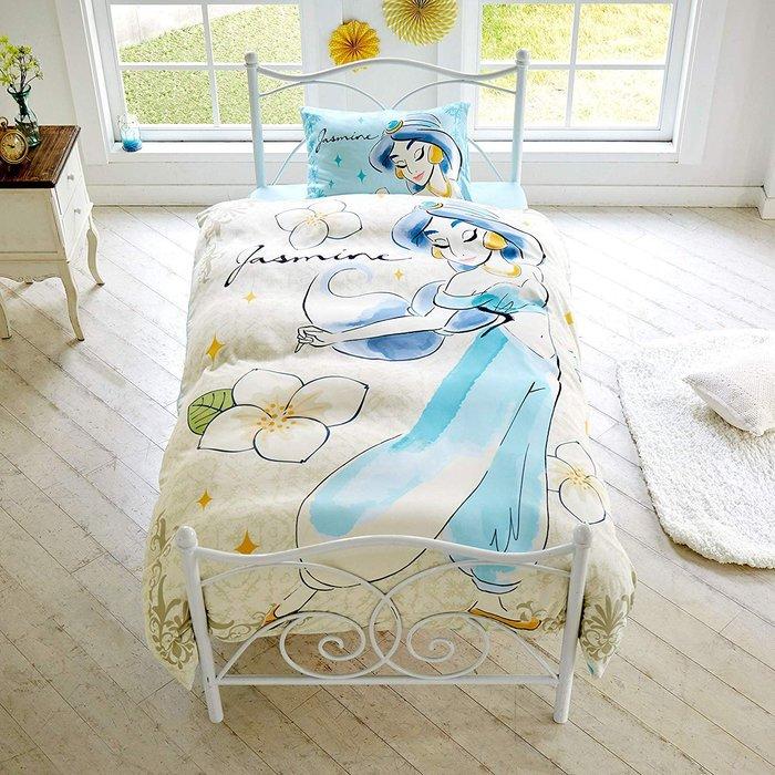 迪士尼Diseny 《預購》阿拉丁 茉莉公主 單人三件式床包組~日本正品~心心小舖