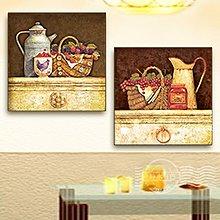 歐式鄉村裝飾畫餐廳背景無框畫廚房牆畫飯廳壁畫板畫掛畫防水(3款可選)