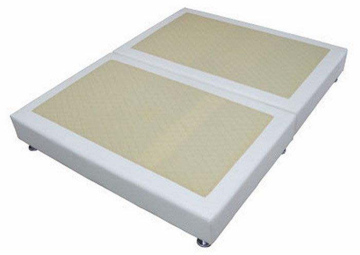 【DH】商品貨號N582-4商品名稱《莉莎》5尺白皮雙人床底腳高12CM(圖一)備有腳高8CM/黑皮.可選.台灣製可訂做