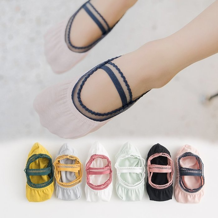 【小阿霏】兒童隱形船襪 女孩防脫落蕾絲隱形襪 女童夏日淺口襪子 搭配公主鞋PA115